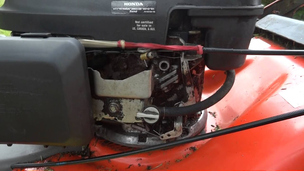 surging problem   husqvarna  sv  propelled lawn mower  honda gcv engine youtube