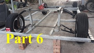 Homemade Lamborghini car part 6 - Front axle