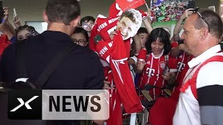 FCB-Ankunft in China: Thomas Müller umjubelter Held | FC Bayern München