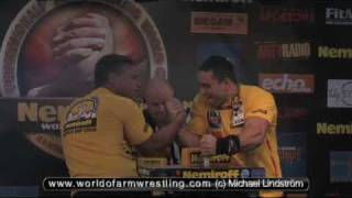 John Brzenk VS Rustam Babayev - Qual. + Open final - Nemiroff 2009 - World of Armwrestling.com