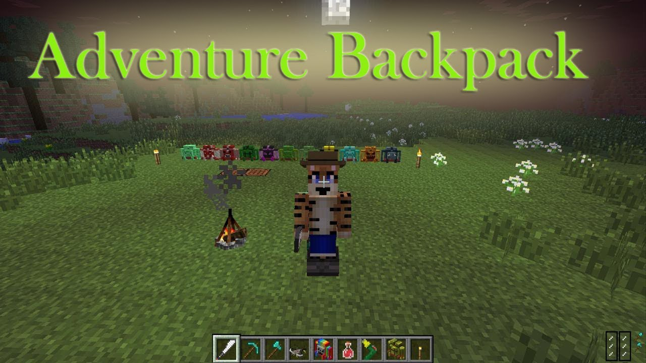Adventure Backpack Mod Showcase Minecraft 1 7 10 Youtube