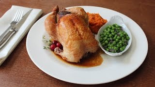 "Cranberry Stuffed Game Hens - ""micro Turkeys"" With Walnut & Cranberry Stuffing"