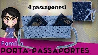 Porta-Passaporte Família – 4 bolsinhos