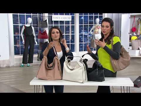 dd12846e46 Vince Camuto Leather Hobo Handbag - Leany on QVC - YouTube