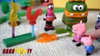 Свинка Пеппа  Мультик из игрушек  Куми Куми угощают Свинку Пеппу и Джорджа сладкими разноцветными ка