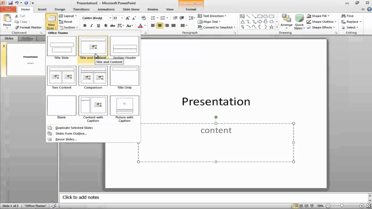 how to create powerpoint presentation 2013