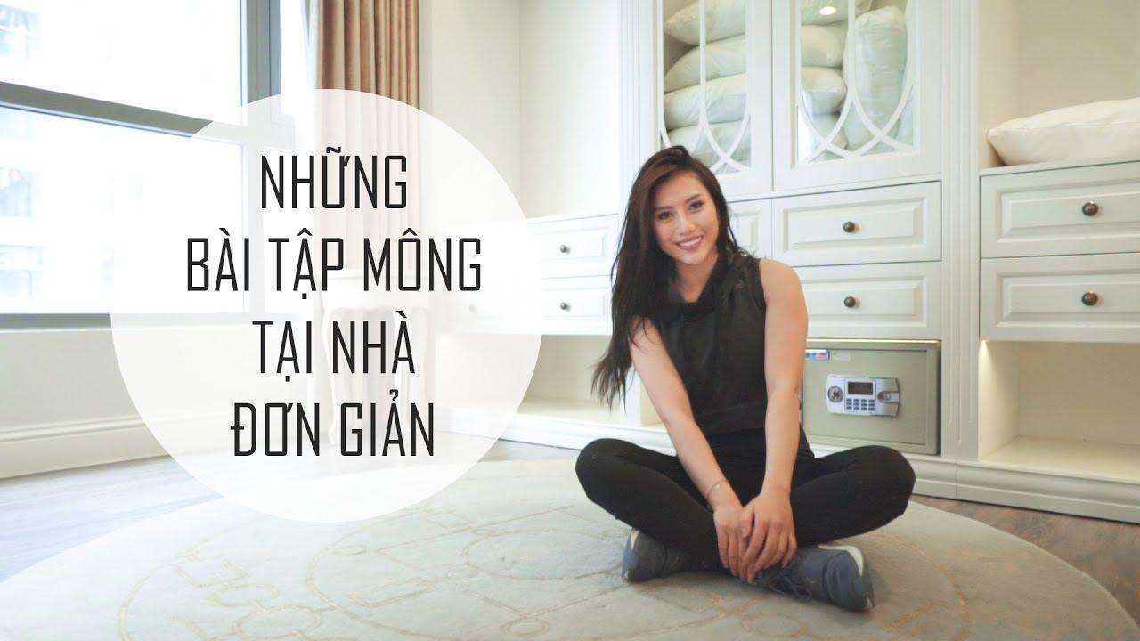 NHỮNG BÀI TẬP MÔNG ĐƠN GIẢN TẠI NHÀ | Trang Le Fitness