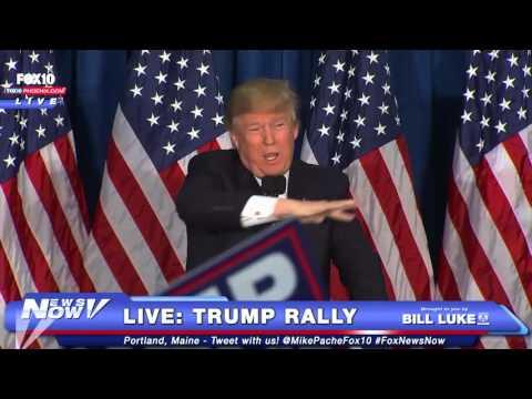 FULL: Donald Trump LIVE Rally - Portland, Maine - 3/3/16 - FNN