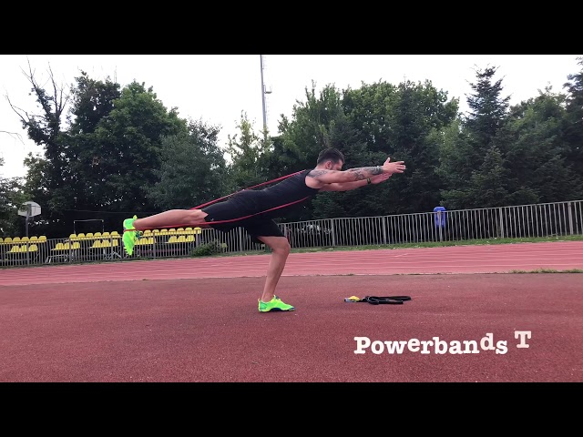 Best 10 exercises for lower body workout with Powerbands