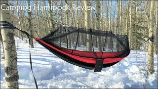 Backyard review of SunYear's double camping hammock