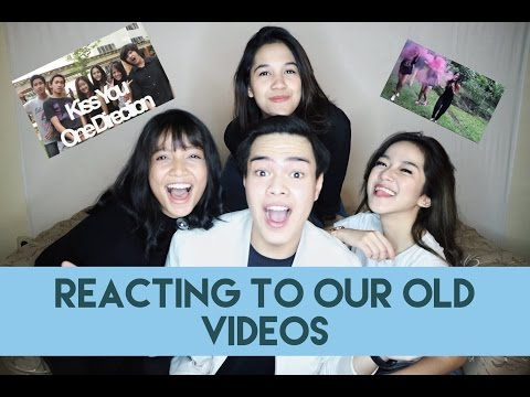 REACTING TO OUR OLD VIDEOS with Goldie Emeralda, Chintya and Lala