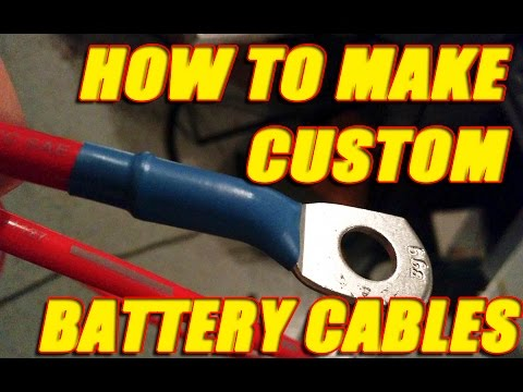 How To Make Custom Length Battery Cables And Wires Youtube