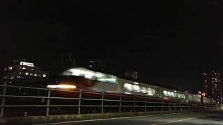 【夜を駆け抜けるパノラマスーパー!】名鉄1200系特急河和行き 金山~神宮前