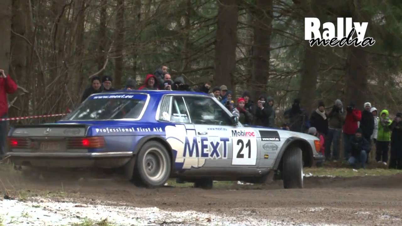 Mercedes Benz 500 SLC drift - Rally Legend Boucles Spa 2010 - YouTube