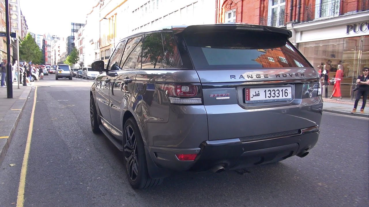crazy loud land rover range rover sport 5 0 v8 supercharged youtube. Black Bedroom Furniture Sets. Home Design Ideas