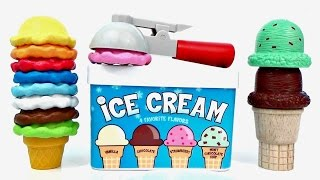 Learn COLORS and NUMBERS with Ice Cream Cones for Children!!! Learning for Kids Toys Unlimited Jr.