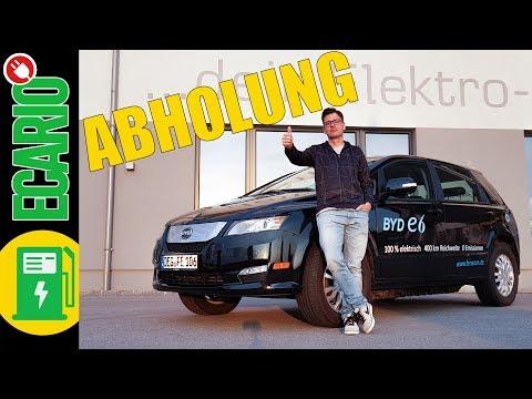 BYD e6 E-Auto SUV - Die Abholung zum Test