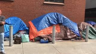 Tour tent city in Harrisburg