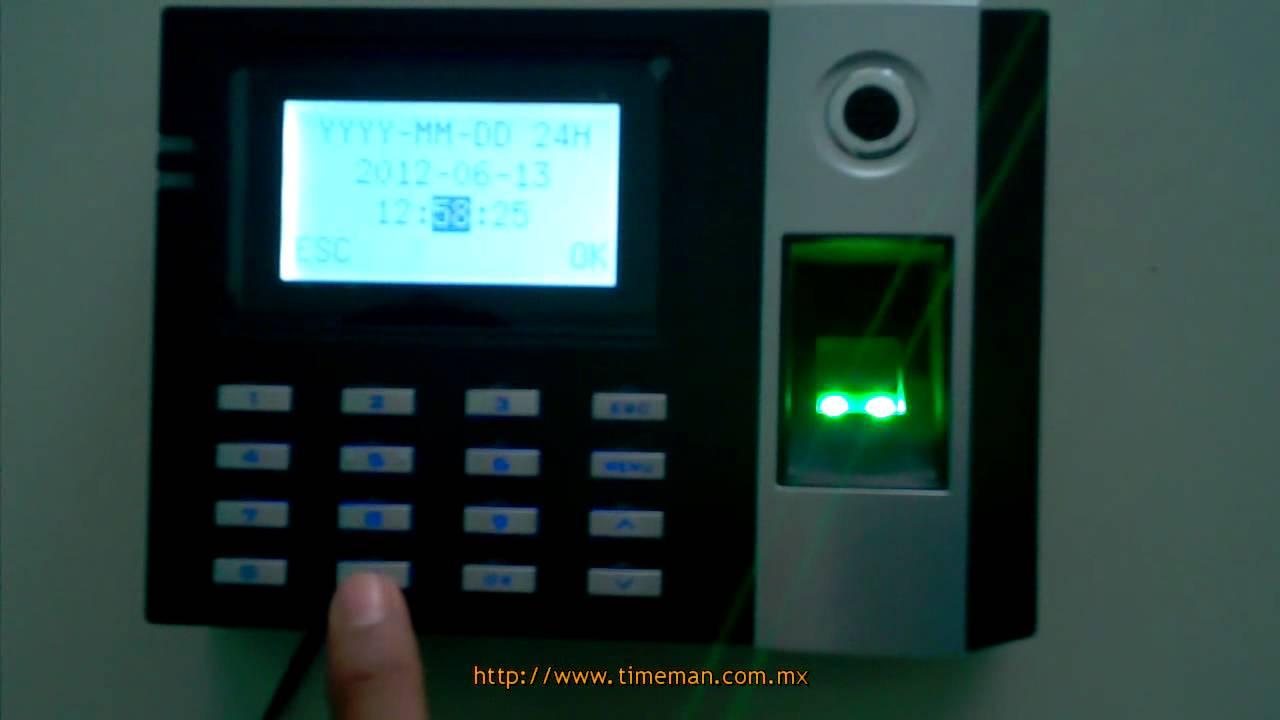 E9parte Fecha HoraZksoftware Reloj 4Configurar Checador Y Huella Digital eWIY9EDH2