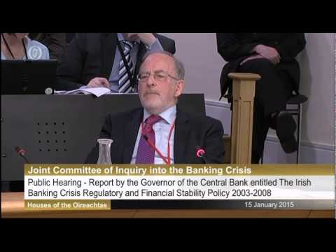 Joe Higgins TD questions Central Bank Governor Patrick Honohan in Banking Inquiry