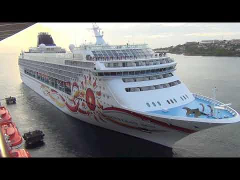 Norwegian Sun departs Fort de France Martinique NCL Norwegian Cruise Line
