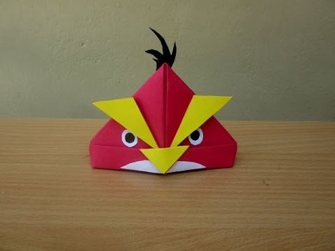 How To Make A Paper Angry Bird Easy Tutorials Youtube