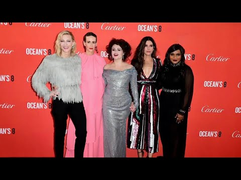 Ocean's 8 Cast Brings Glam and Glitter to Their London Premiere