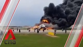 Russian passenger plane catches fire during emergency landing in Moscow