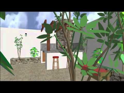 Dise o de asador en 3d youtube for Asadores de piedra para jardin