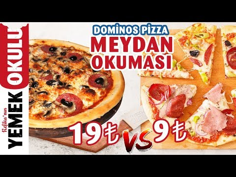 19 TL vs 9 TL Dominos Pizza Meydan Okuması 🍕 | Refika ile Evde Daha Hızlı ve Ucuz Pizza Tarifi