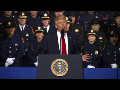 FULL: President Donald Trump speaks on MS-13 gang crackdown