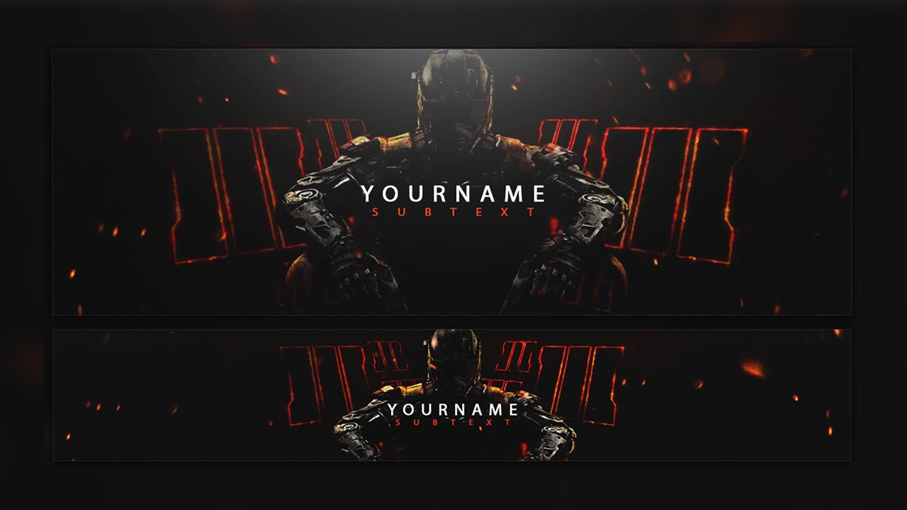 Free Call Of Duty: Black Ops 3 Twitter & Youtube Banner