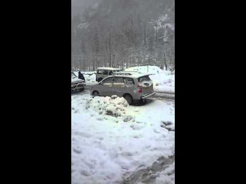 Snowfall in Sonmarg (Kashmir) in March 2016