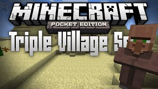 triple desert village seed 3 desert villages in mcpe minecraft pocket edition