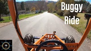 riding the GS500 dune buggy