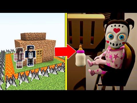 Babylirious (The Baby In Yellow 2) Tấn Công Nhà Được Bảo Vệ Bởi bqThanh và Ốc Trong Minecraft