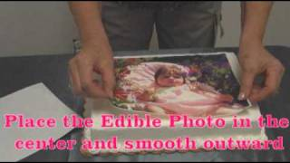 Setup Part 4 - Applying your PhotoFrost Edible Photo to a cake