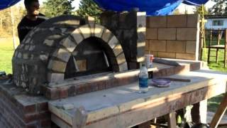 pizza oven / Italian bbq build