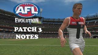 PATCH 3 NOTES!!! - AFL Evolution
