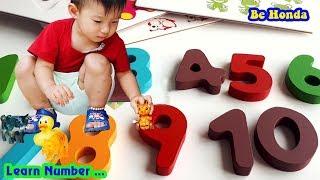 Learn Numbers - Dạy bé các Con vật,  Cùng bé Học số đếm.
