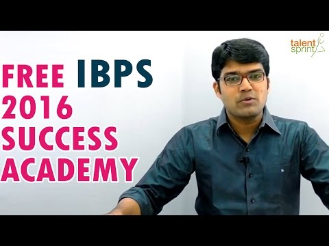 Free IBPS 2016 Success Academy || Banking Careers