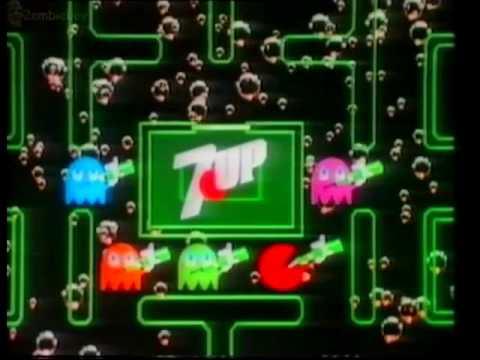 Pac-Man Arcade Game 7up Advert 1982 (VHS Capture)