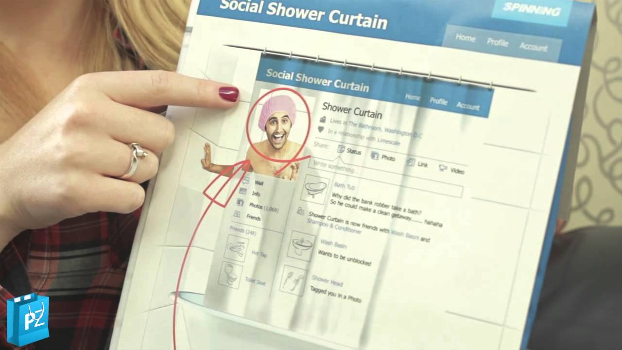 Social Shower Curtain