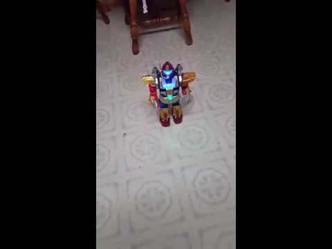 Galactic Space Warrior Walking Action Robot Toy with Missile Fire Function by Liberty Imports