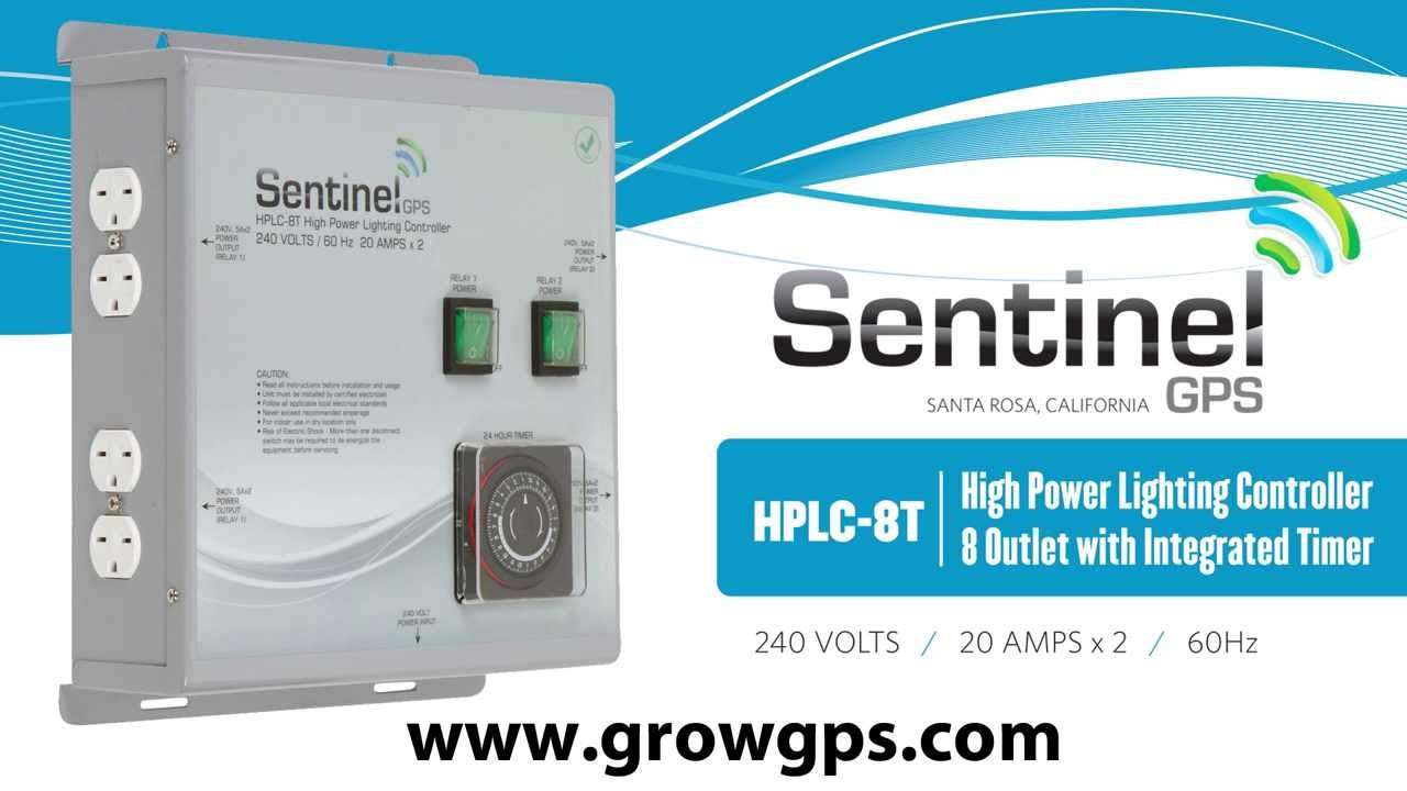 Sentinel GPS HPLC-8T High Power Lighting Controller 8 Outlet with ...