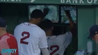 Rick Porcello punches and breaks two TV screens, a breakdown