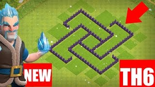 NEW Town Hall 6 (TH6) Hybrid Base Design | Clash of Clans TH6 Defense - Clash of Clans