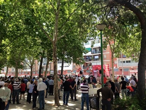 IU-Alcalá en la Plaza del Barro #ElCorazóndelaIzquierda