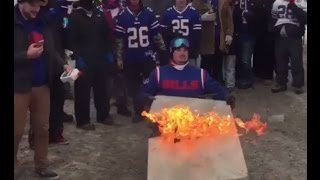 Bills Fans Break Their Bodies On Tables Prior To EPIC Bills Vs Dolphins Game