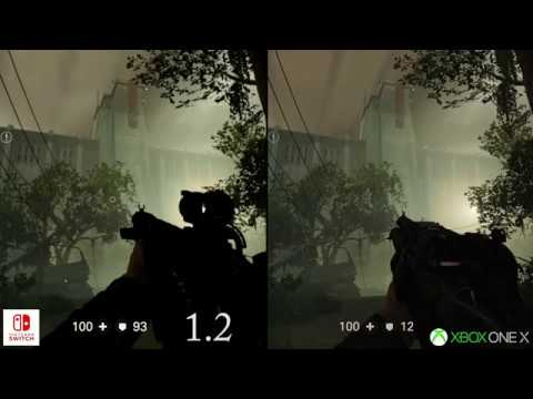 Wolfenstein 2 Switch patch 1 2 - Visual comparison with Xbox One X